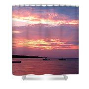 Sun Rays Through The Clouds Shower Curtain