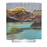 Sun Ricing On Rockies Shower Curtain