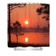 Sun Rise At Red Lake Grayton Beach State Park Florida Shower Curtain