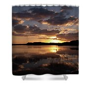 Sun Rise At West Lake In The Everglades Shower Curtain