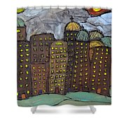 Sun Rising On Olde Towne Shower Curtain