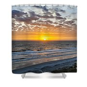 Sun Rising Over Atlantic Shower Curtain