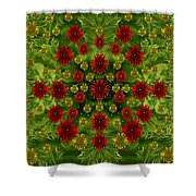 Sun Roses In The Deep Dark Forest With Fantasy And Flair Shower Curtain