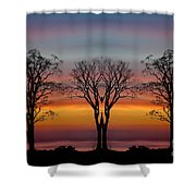 Sun Salutation Shower Curtain