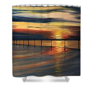 Sun Set At Seabridge Shower Curtain