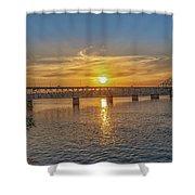 Sun Set Shoals Shower Curtain