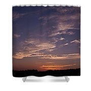 Sun Sets For The Day Shower Curtain