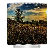 Sun Setting At Valley Forge Shower Curtain