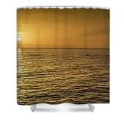 Sun Setting In Barbados Shower Curtain