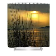 Sun Setting From Eastern Point Shower Curtain