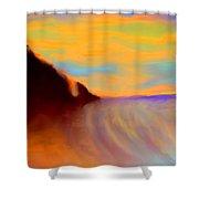 Sun Setting On Friars Bay Shower Curtain