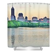Sun Rise In Indianapolis Shower Curtain