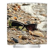 Sun Shades And Sea Shells Shower Curtain