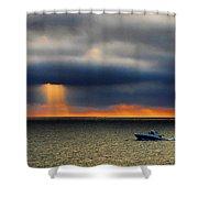 Sun Shower Shower Curtain
