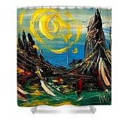 Sun Sin City Shower Curtain