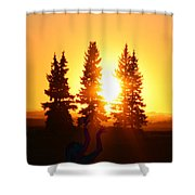 Sun Sorceress Shower Curtain