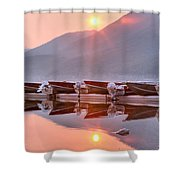 Sun Through Smoke At Mcdonald Shower Curtain