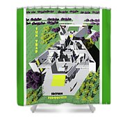 Sun Trap Section Perspective Shower Curtain