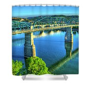 Sun Up Reflections Chattanooga Tennessee Shower Curtain