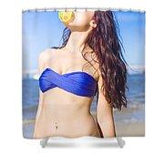 Sun Worshiper Shower Curtain