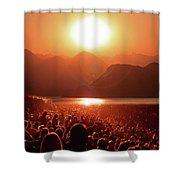 Sun Worshipers Shower Curtain