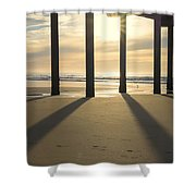 Sunbeams And Shadows Shower Curtain