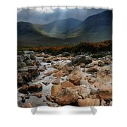 Sunbeams, Glencoe, Scotland Shower Curtain