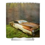 Sunbeams On A Classic Cadillac Shower Curtain