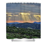 Sunbeams Over Moorpark Hills Shower Curtain