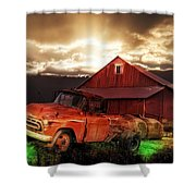Sunburst At The Farm Shower Curtain