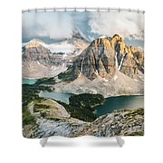 Sunburst Peak Shower Curtain
