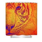 Sunburst Tiger Shower Curtain