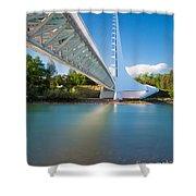 Sundial Bridge 1 Shower Curtain