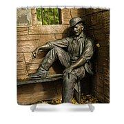 Sundance Kid Statue Shower Curtain