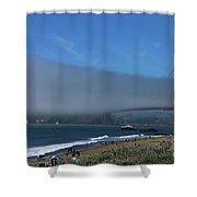 Sunday Afternoon At Golden Gate Bridge Beach Shower Curtain