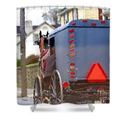 Sunday Courting Shower Curtain