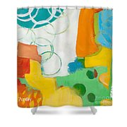 Sunday Day Bubbles Shower Curtain