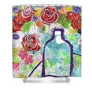 Sunday Market Flowers 2- Art By Linda Woods Shower Curtain