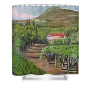 Sunday Morning At Ocone Vini Montesarchio Italy Shower Curtain