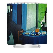Sunday Morning Breakfast Shower Curtain