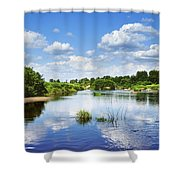 Sunday River  Shower Curtain