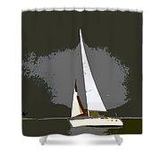 Sunday Sailing Shower Curtain