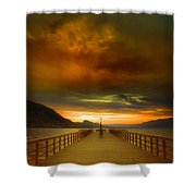 Sunday Storm Clouds Shower Curtain