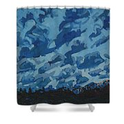 Sunday Sunrise Cumulus Floccus Shower Curtain