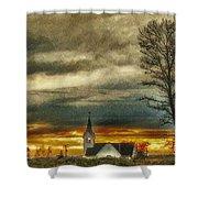 Sunday Sunset Shower Curtain