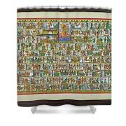 Sunder Kand- Ramayana Phad Shower Curtain