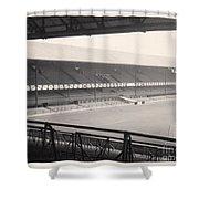 Sunderland - Roker Park - Main Stand 1 - Bw - Leitch - 1960s Shower Curtain