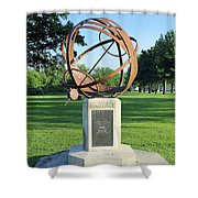Sundial At American Legion Post, Indianapolis, Indiana Shower Curtain