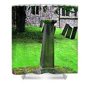 Sundial In St Leonard's Churchyard - Thorpe Shower Curtain