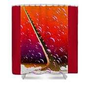 Sundial In The Sky With Bubbles Shower Curtain